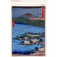 Utagawa Hiroshige: 「六十余州名所図会」「加賀 金沢八勝之内蓮湖の漁火」 - Waseda University Theatre Museum