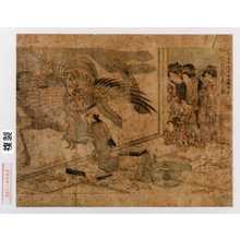 Kitagawa Utamaro: [「歌麿筆曲中年中行事之内」]「倡舗張付彩工図」 - Waseda University Theatre Museum