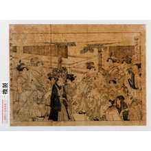 Kitagawa Utamaro: 「歌麿筆曲中年中行事之内」「仲の町年礼之図」 - Waseda University Theatre Museum