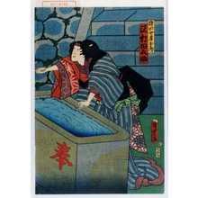 Utagawa Kunisada II: 「猪助女房おしづ 沢村田之助」 - Waseda University Theatre Museum