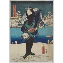 Utagawa Kunisada: 「三ッ引の長吉」 - Waseda University Theatre Museum