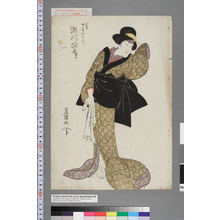 Utagawa Toyokuni I: 「八蔵女房おはつ 瀬川路考」 - Waseda University Theatre Museum