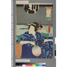 落合芳幾: 「染ゆかたなつのいろどり」 - 演劇博物館デジタル