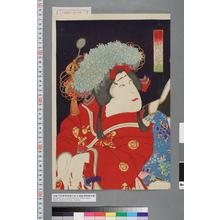 Toyohara Kunichika: 「浪花の次郎作 市川団十郎」 - Waseda University Theatre Museum