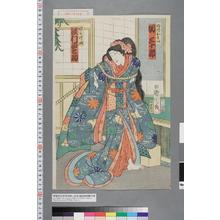 Toyohara Kunichika: 「母片もい 関三十郎」「娘かけ皿 沢村田之助」 - Waseda University Theatre Museum