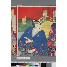Toyohara Chikanobu: 「渡辺亘 嵐璃寛」 - Waseda University Theatre Museum