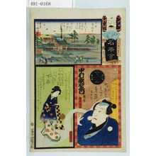 Utagawa Kunisada: 「江戸の花名勝会」「十番組 を」「下谷」「下谷 広徳寺」「中村歌右衛門」 - Waseda University Theatre Museum