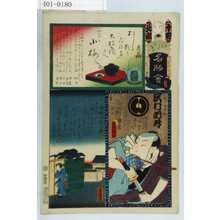 Utagawa Kunisada: 「江戸の花名勝会」「北組 十四」「小梅」「小梅の朝の雨」「梅の由兵衛 沢村訥升」 - Waseda University Theatre Museum