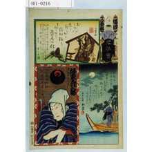 Utagawa Kunisada: 「江戸の花名勝会」「八番組 ほ」「首尾の松」「☆神木 首尾の松」「井筒や伝兵衛 坂東彦三郎」 - Waseda University Theatre Museum