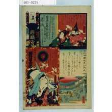 Utagawa Kunisada: 「江戸の花名勝会」「六番組 ゐ」「牛込」「牛込神楽坂毘沙門天」「傾城宮城野 岩井半四郎」 - Waseda University Theatre Museum