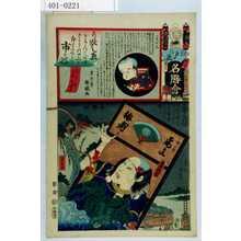 Utagawa Kunisada: 「江戸の花名勝会」「六番組 於」「市ヶ谷」「小仏小平 尾上梅寿」 - Waseda University Theatre Museum