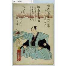Unknown: 「噂止院高賀俳翁信士 行年五十三才 助高屋高助」 - Waseda University Theatre Museum