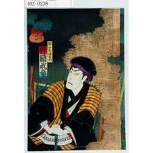 Toyohara Chikanobu: 「田宮伊右衛門 片岡我童」 - Waseda University Theatre Museum