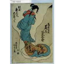 Utagawa Kunisada: 「薄雲太夫 尾上菊五郎」「此度新工夫大当り/\」 - Waseda University Theatre Museum