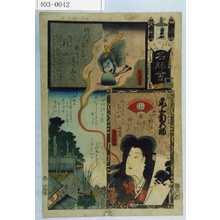 Utagawa Yoshitora: 「江戸の花 名所会」「相馬の瀧ひめ 尾上菊五郎」 - Waseda University Theatre Museum