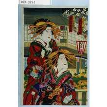Toyohara Kunichika: 「傾城丁山 沢村源之助」「傾城薄雲 市川女寅」 - Waseda University Theatre Museum