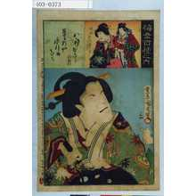 Toyohara Kunichika: 「梅幸百種之内」「八汐」「政岡 市川団十郎」 - Waseda University Theatre Museum