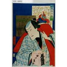 Toyohara Kunichika: 「花揃 見立六歌仙」「増正遍昭」「市村家橘」 - Waseda University Theatre Museum