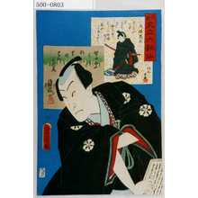 Toyohara Kunichika: 「花揃 見立六歌仙」「大伴黒主」「坂東薪水」 - Waseda University Theatre Museum