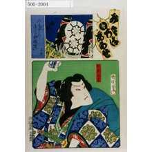 Toyohara Kunichika: 「み立いろはあわせ」「放駒長吉」 - Waseda University Theatre Museum