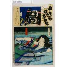 Toyohara Kunichika: 「み立いろはあわせ」「小万」 - Waseda University Theatre Museum