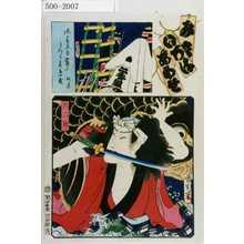 Toyohara Kunichika: 「み立いろはあわせ」「六三郎」 - Waseda University Theatre Museum