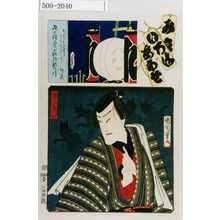 Toyohara Kunichika: 「み立いろはあわせ」「礼三郎小狐」 - Waseda University Theatre Museum