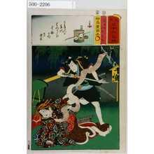Utagawa Kunisada: 「見立三十六句選」「名古屋山三 傾城葛城」 - Waseda University Theatre Museum