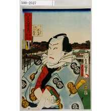 Utagawa Kunisada: 「東都三十六景之内 横綱駒とめ」「かくれ家の茂兵衛 市川小団次」 - Waseda University Theatre Museum