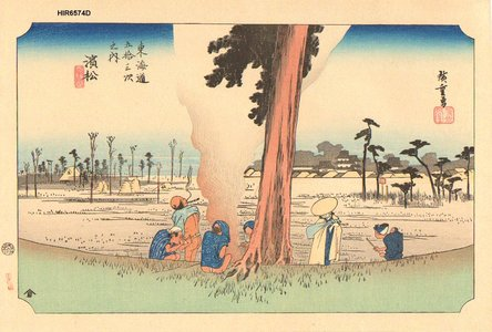 Utagawa Hiroshige: Hoeido Tokaido, Hamamatsu - Asian Collection Internet Auction