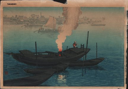 Ito, Takashi: Ferry at Odai, Tokyo - Asian Collection Internet Auction