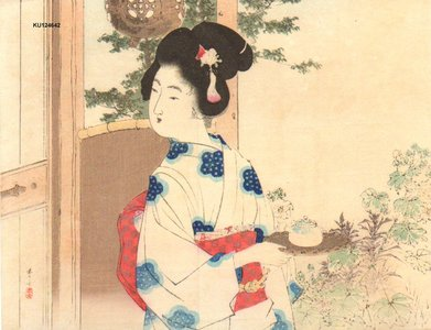 水野年方: BIJIN serving tea - Asian Collection Internet Auction