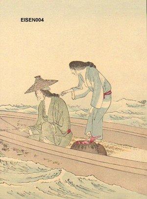 Tomioka Eisen: BIJIN (beauties) fishing - Asian Collection Internet Auction