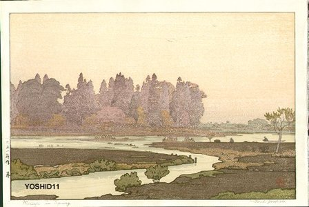Yoshida Toshi: Morinji in Spring - Asian Collection Internet Auction