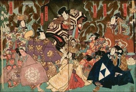 歌川国貞: Kabuki scene - Asian Collection Internet Auction