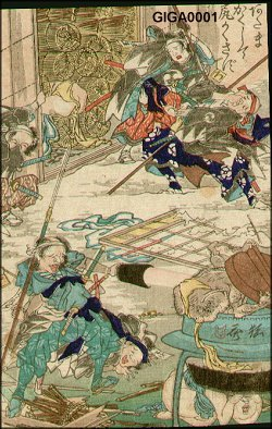 Kawanabe Kyosai: Proverb - Smelly demon in a pickle jar - Asian Collection Internet Auction