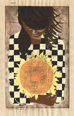 Nakayama, Tadashi: Holding a Sunflower - Asian Collection Internet Auction
