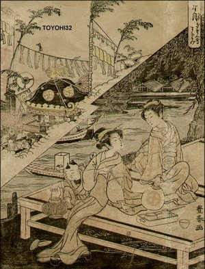 Utagawa Toyoharu: Two beauties - Asian Collection Internet Auction
