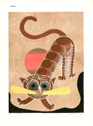 Oi, Motoi: Cat and sun - Asian Collection Internet Auction