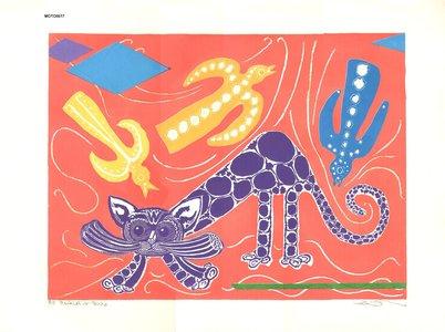 Oi, Motoi: Black Cat and Birds - Asian Collection Internet Auction