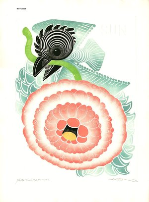 Oi, Motoi: Bird and Red Flowers #1 - Asian Collection Internet Auction