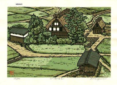 Nishijima Katsuyuki: SHIRAKAWAGO-NO-YANAMI (Roof in Shirakawa) - Asian Collection Internet Auction