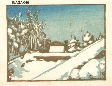 Inagaki Tomoo: Snow scene - Asian Collection Internet Auction