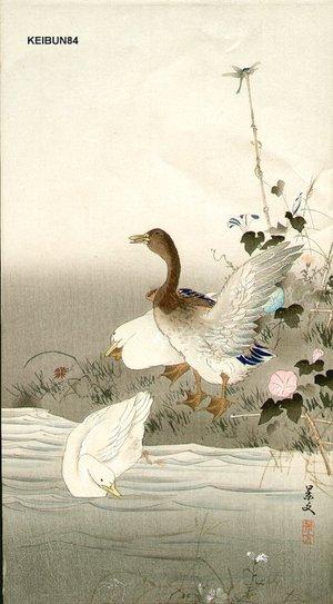 松村景文: Ducks and dragon fly - Asian Collection Internet Auction