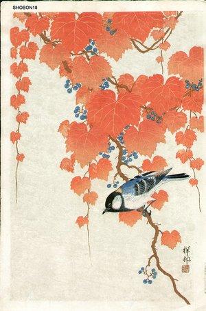 Shoson Ohara: Tit on Paulownia - Asian Collection Internet Auction