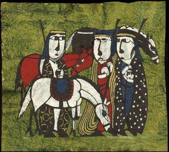 Watanabe Sadao: Biblical Scene - Three Wisemen - Asian Collection Internet Auction