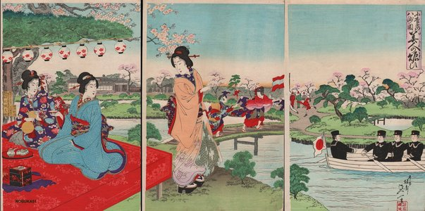 渡辺延一: Beauties and boaters - Asian Collection Internet Auction