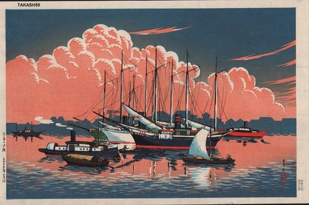 Ito, Takashi: Sunset at Tsukishima - Asian Collection Internet Auction