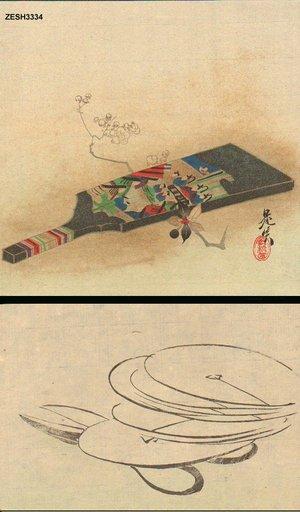 Shibata Zeshin: Second print from Hanakurabe series - Asian Collection Internet Auction
