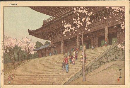 吉田博: Chinon'in Temple Gate - Asian Collection Internet Auction